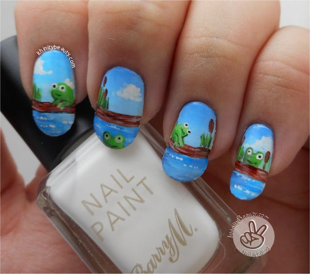 Frog Nail Art: 17 Best Images About FROG NAIL ART On Pinterest