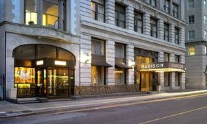 Groupon - Stay at Madison Hotel in Memphis, TN in Memphis, TN. Groupon deal price: $129