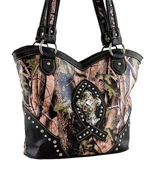 Wholesale Handbag Fashion Jewelry Handbags Cross Bible Cases Camo HFF8096PK/BK Wholesale Handbag at YKTrading.com