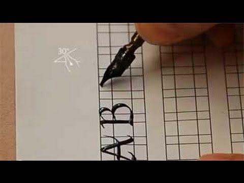 Calligraphy tutorials.  Fundational font.   Capitals.