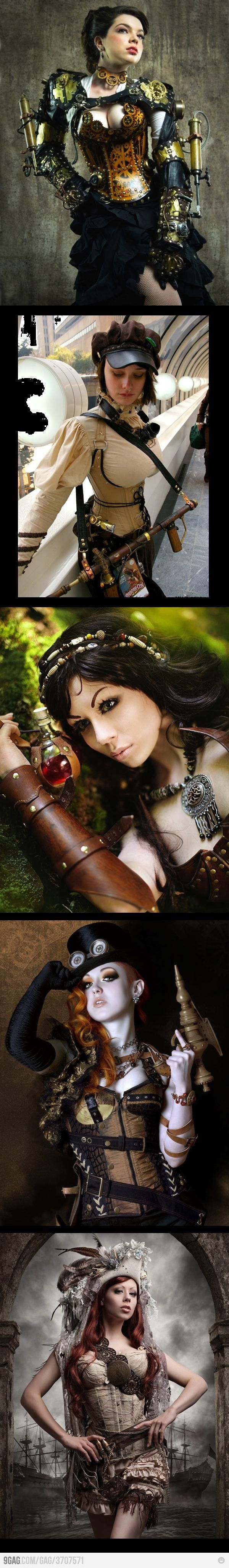 Love steampunk and these ladies Cosplay costumes are AMAZING!