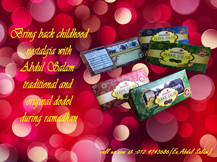 Abdul Salam DODOL sure will bring you back in time to your childhood past with the original taste of traditional DODOL