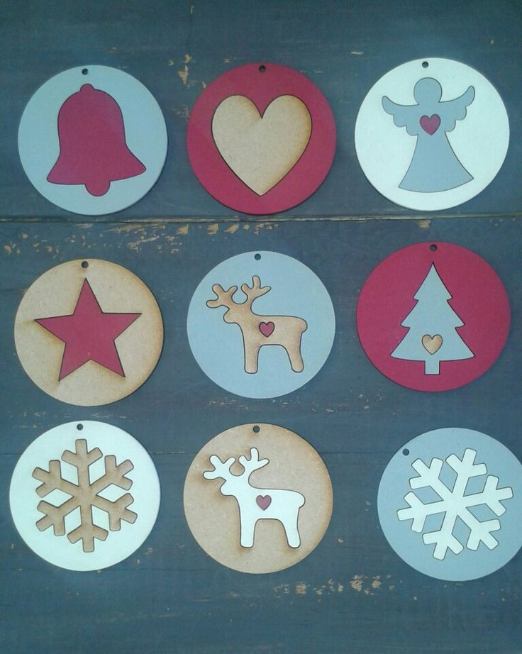 Xmas wooden decorations