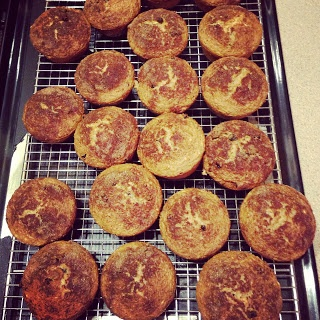 Oatmeal applesauce current muffins - only 92 calories and a half gram of fat each!