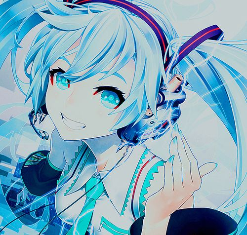 Hatsune miku 39 s face is so cute in this picture miku - Cute anime miku ...