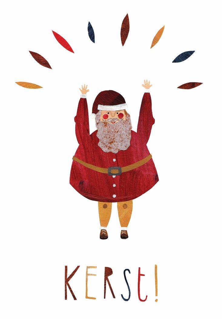 Kerst! Christmas. Illustration. Illustratie. Santa Claus. Kerstman. Juichen.