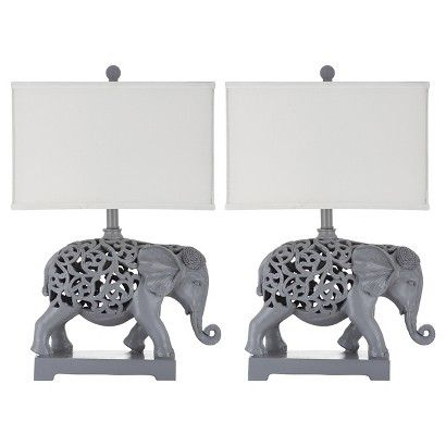 Hathi Sculpture Table Lamp (Set Of 2)   Safavieh®
