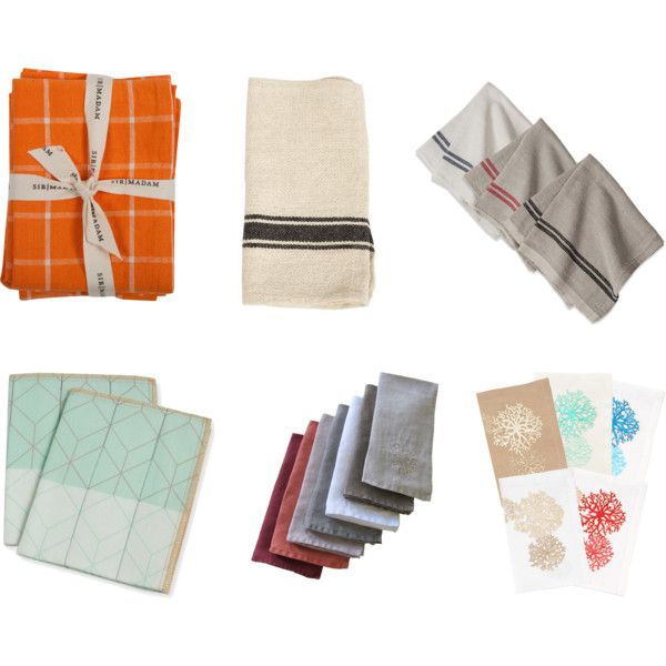 cloth napkins by nosborn on Polyvore featuring interior, interiors, interior design, home, home decor, interior decorating, Sir/Madam, Kim Seybert, HAY and Jayson Home