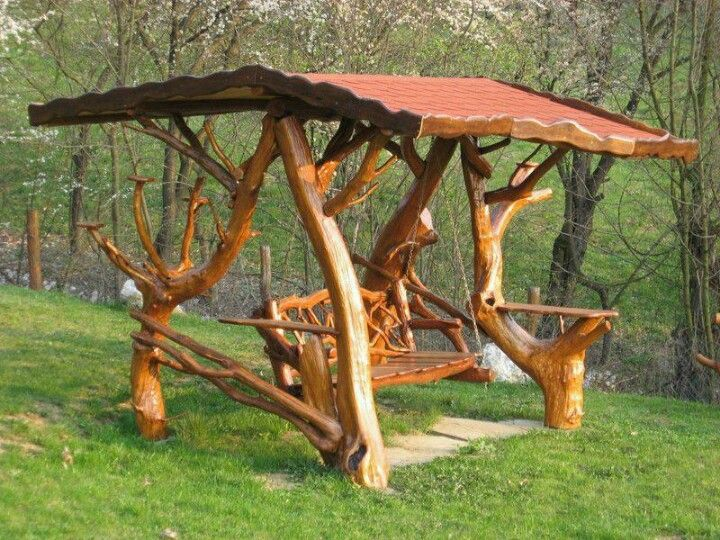Cool swing from driftwood possibly driftwood projects for Cool porch swings
