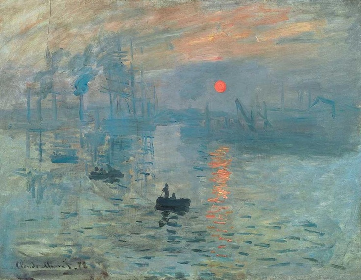 Claude Monet's Impression Sunrise (Impression, soleil levant) is one of the most famous paintings in the world. In fact, it is the painting that gave the Impressionist Movement it's name. A critic tried to ridicule the artists of this style, by calling them impressionists.    Medium: Oil on canvas (1872)  Location: Musée Marmottan Monet, Paris