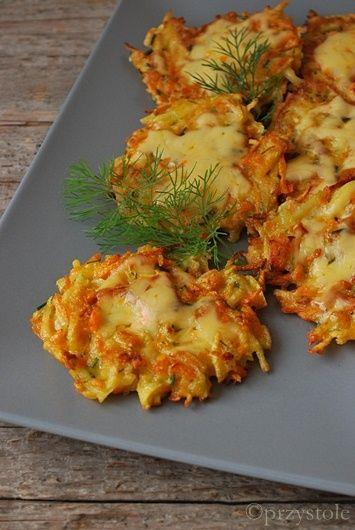 Placki warzywne z serem