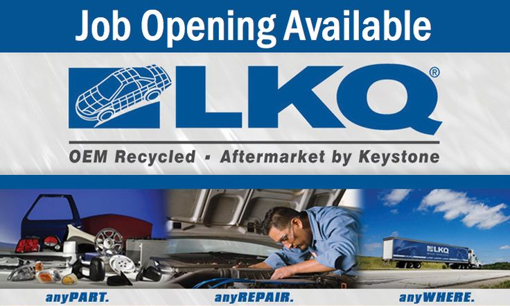 JOB OPENING AVAILABLE DELIVERY DRIVER Employer LKQ