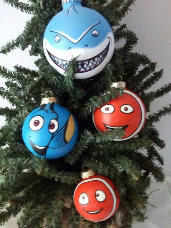 266 best disney christmas diy images on pinterest christmas balls finding nemo pixar painted holiday christmas ornament set by gingerpots on etsy diy ornaments disney solutioingenieria Choice Image