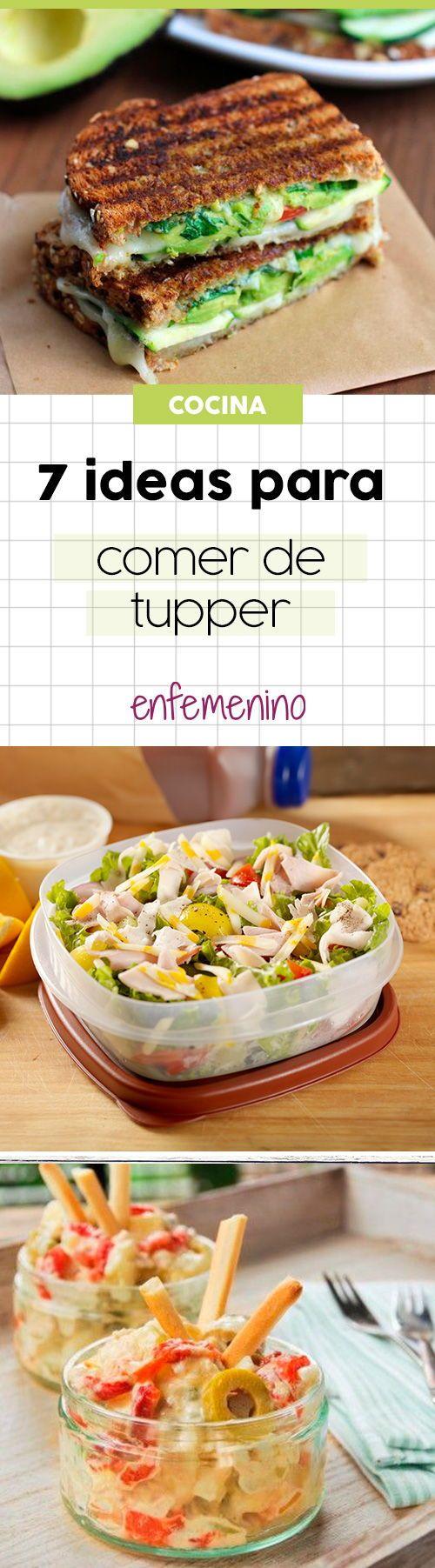 Comer de tupper no tiene por qué ser aburrido. ¡Ficha estas ideas! #tupper #cocina #recetas