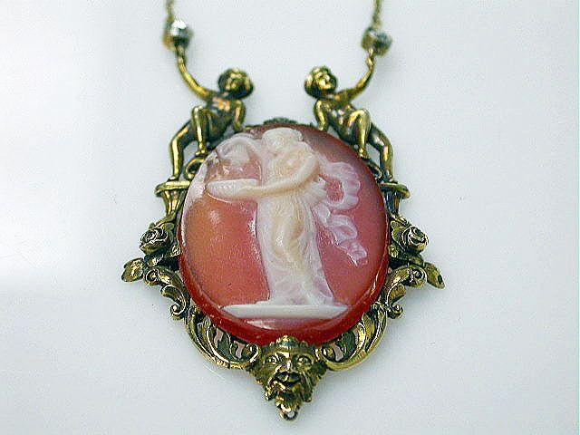 Charming cameo necklace #cherub #ryrie #cameo