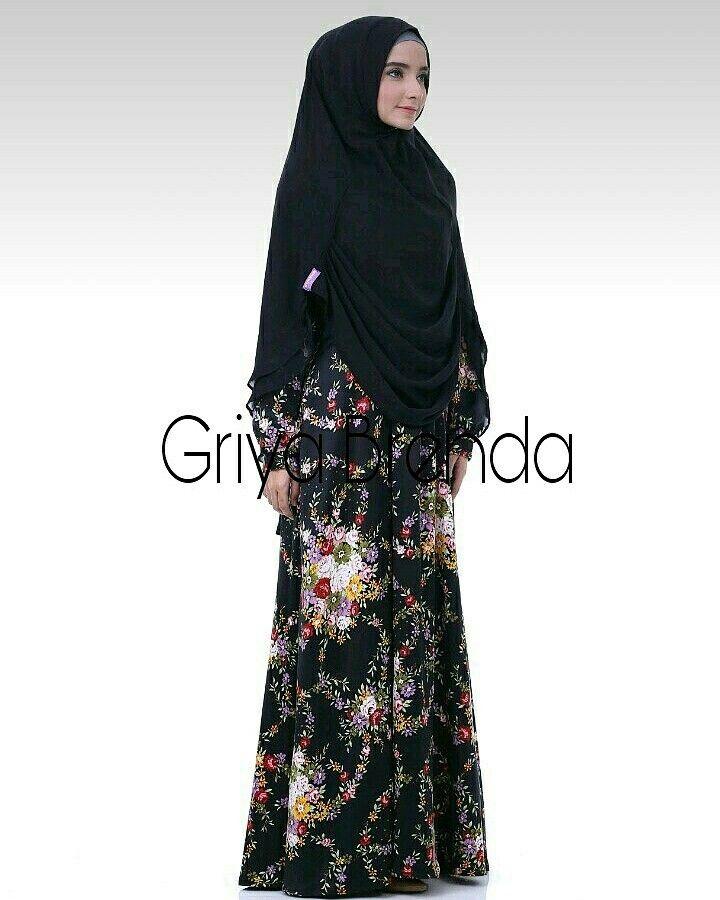 Gamis adeeva black @griyabrenda