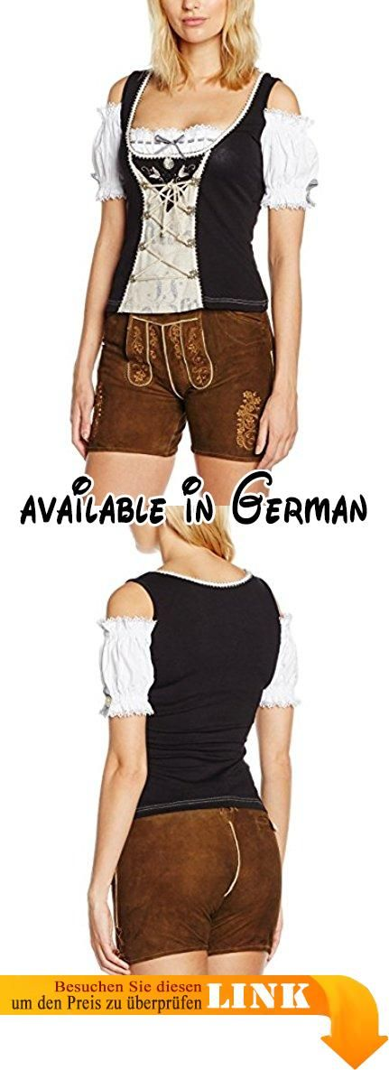 Stockerpoint Damen Trachtenbluse Shirt Dark Schwarz (Schwarz), 44. Stil: Regular Fit. Regular Fit #Apparel #SHIRT