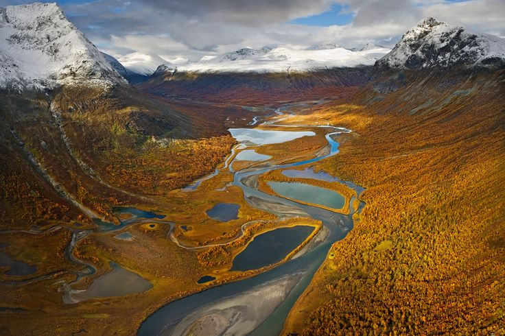 50 natural destinations which should always be fall - Sarek (Sweden): no sign of civilization