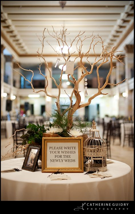 Well Wish Tree Instead Of Guestbook Calcasieu Marine National Bank Historic Wedding Venue