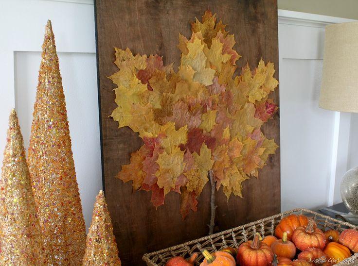 real leaf art