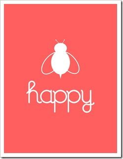 Be happy - free printable: Coral Colors Printable, Printable Bees, Bees Happy, Happy Printable, Bees Printable, Gap Spaces, Free Prints, Free Printable, Art Wall