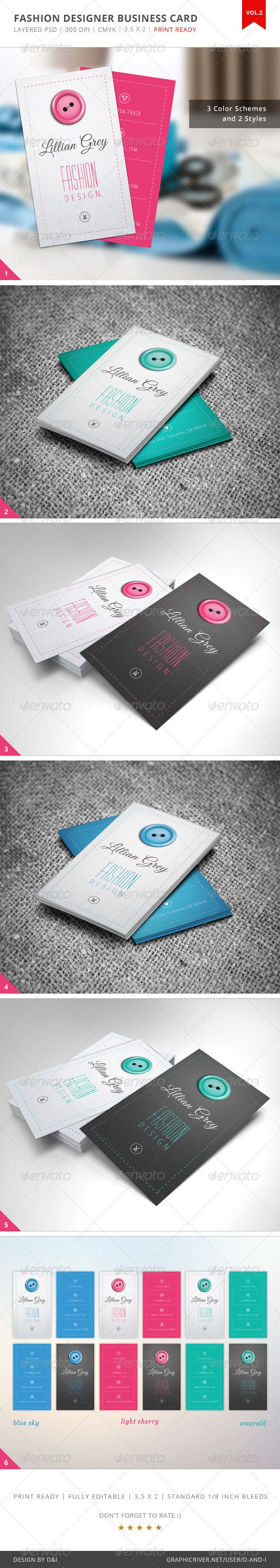 Fashion Designer Business Card - Vol.2 - Creative Business Cards
