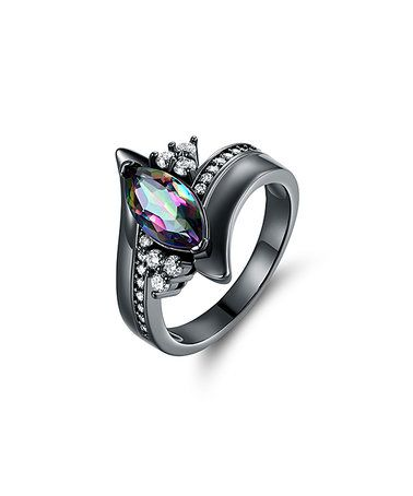 Look what I found on #zulily! Rainbow Topaz & Black Marquise-Cut Engagement Ring #zulilyfinds
