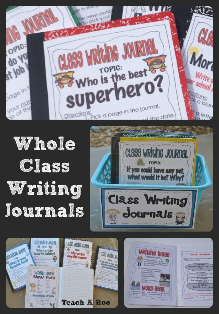 I love using whole class writing journals to engage kids in reading and writing. Perfect for writing centers and early finishers, these are always a student favorite!