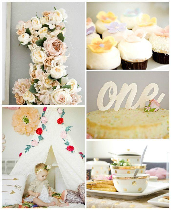 Floral Birthday Party via Kara's Party Ideas KarasPartyIdeas.com #floralparty (2)