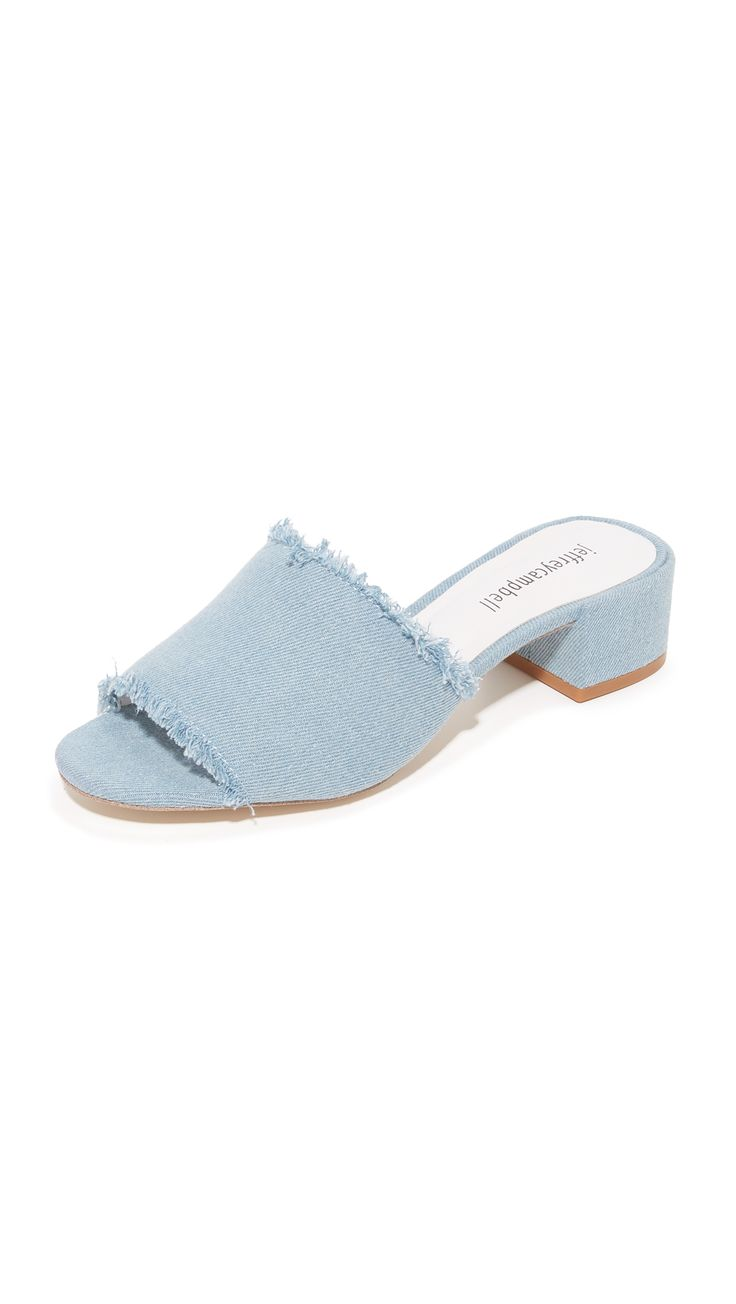Beaton Denim Mules