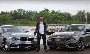 How Does the Genesis G80 Sport Compare to a New BMW 540i? :  Luxury sedans have become uber-expensive blisteringly fast machines that are good at pretty much everything. Such is the case with the all-new BMW 5 Series. But if you're after more thrills for