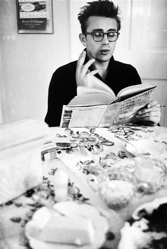 James Dean Reading Book