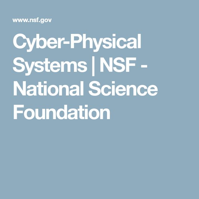 Cyber-Physical Systems | NSF - National Science Foundation