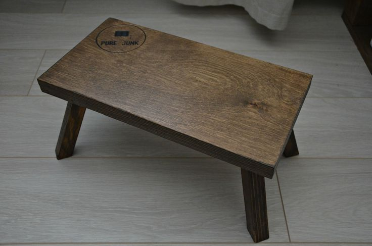 Little wooden table from recycled material.