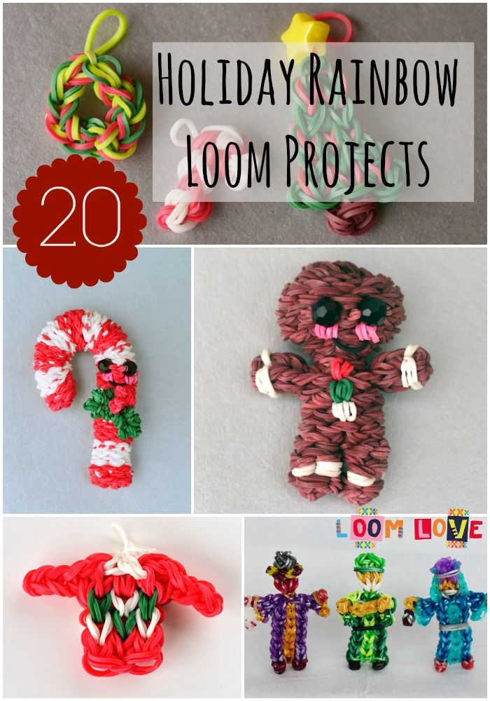 20 Awesome Holiday Rainbow Loom Designs