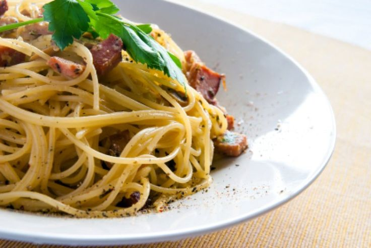 Spagetti carbonara med billede & video opskrift Hovedret Italien Hurtig nem hverdagsmad