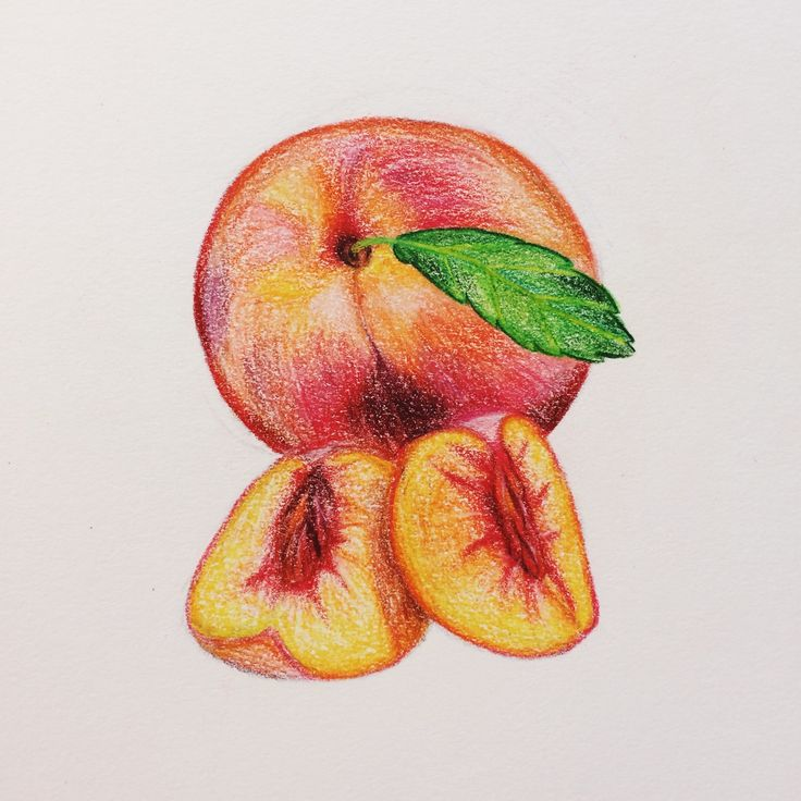 how to make the color peach with colored pencils