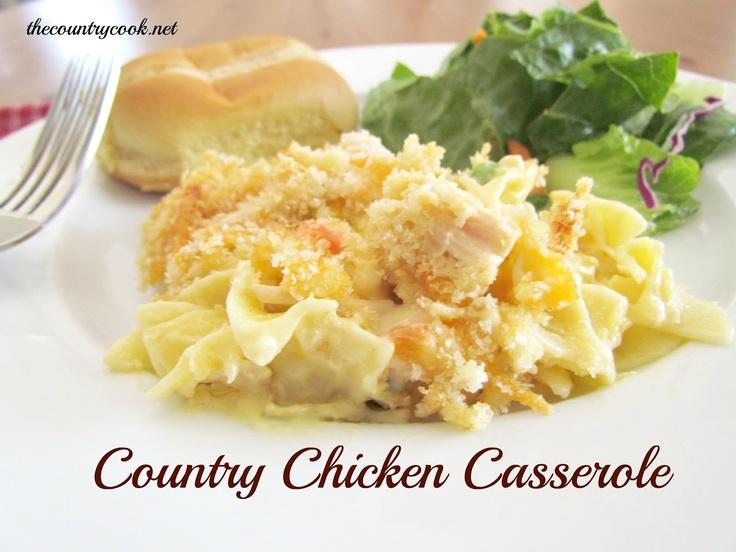 Country Chicken Noodle Casserole: Casseroles Recipes, Country Chicken, Chicken Recipes, Casserole Recipe, Chicken Noodle Casserole, Dinners, Chicken Noodles Casseroles, Country Cooking, Chicken Casseroles