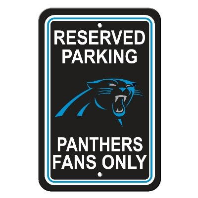 The Carolina NFL Fan Sign - Reserved Parking Panthers Fans Only