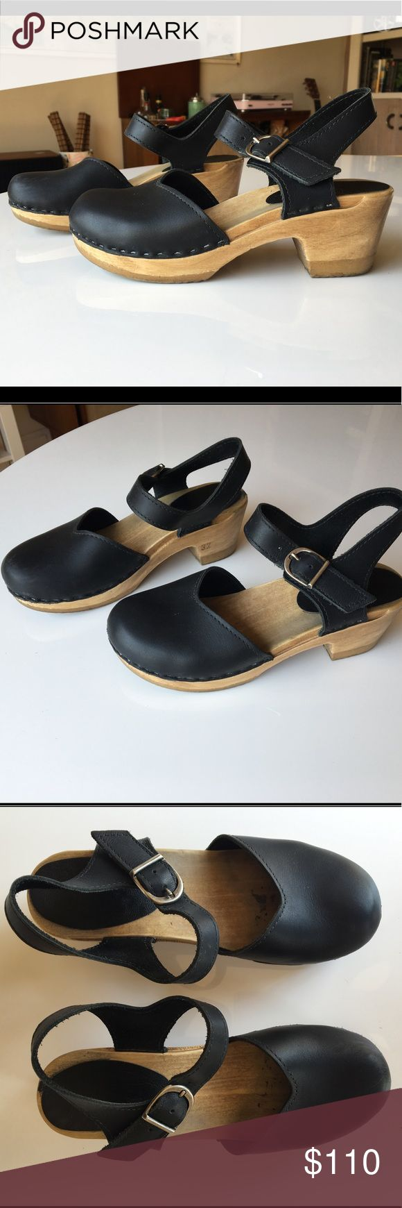 Sven Clogs - Mary Jane black medium heel size 37 I LOVE THESE!!! Unfortunately they are just a bit too small for me :( they are a size 37... Sven clogs run a bit small. I am a solid US size 7, and I should've gone up a size. These will fit people with US size 6 or 6.5 best. I've worn these about 15-20 times. They're in great condition, already perfectly worn in!! The wearing in period can be quite painful with clogs but the leather on these is nice and soft now. There are some scuffs on the…