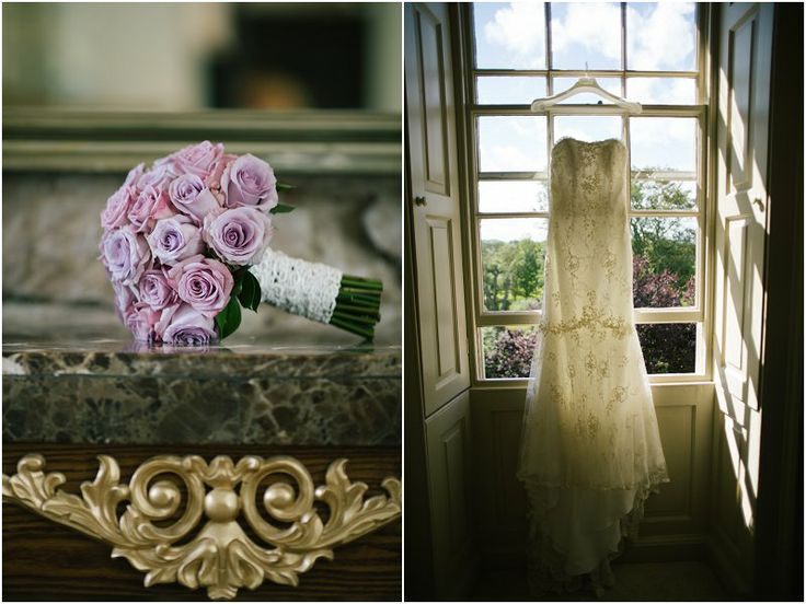 #wedding bouquet and dress from newton hall #northumberland
