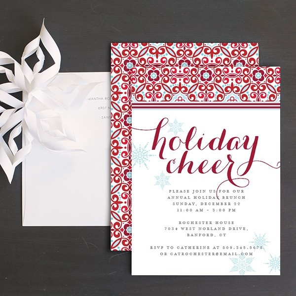 55 best christmas party invitations images on pinterest christmas cheerful elegance christmas party invitation stopboris Image collections