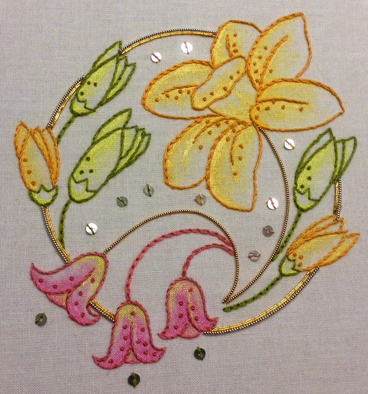 Simple floral designs for fabric painting learn how to