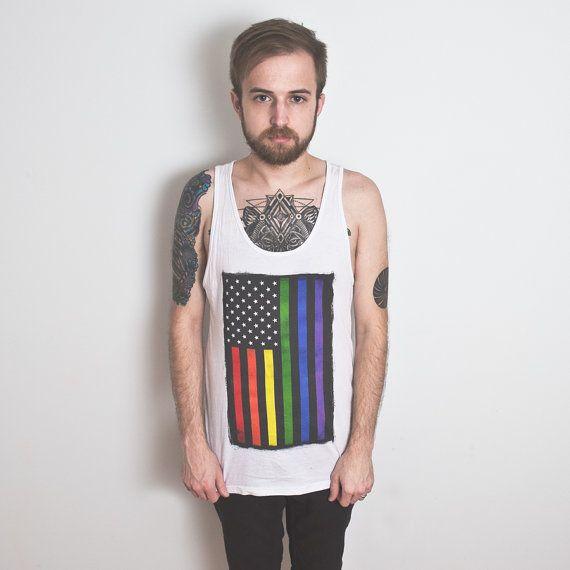 Rainbow Pride Tank Top, Rainbow Flag Tank, LGBT tee, equality. Unisex Jersey Tank-Top