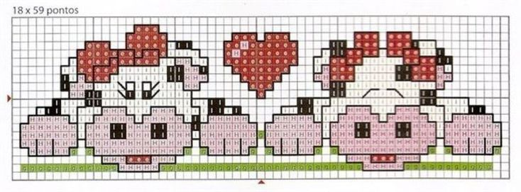 Schema punto croce Mucchine