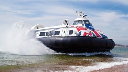 Travel from Southsea in Portsmouth to Ryde on the Isle of Wight on a hovercraft adventure for two.
