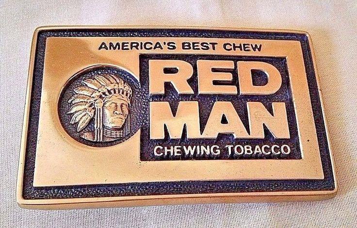 RED MAN CHEWING TOBACCO BELT BUCKLE SOLID BRASS BTS USA AMERICA'S BEST CHEW #BTS #Novelty
