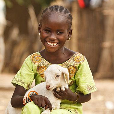 Buy a goat for a family in need! On small farms, goats are often the key to a family's survival. Your gift will provide a goat to a family in need, along with training and education in its care.