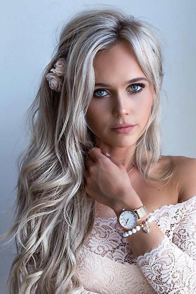 Beautiful Charming Long Curly Blonde Hair Teenage Girl Wearing A Stock Image - Image of long