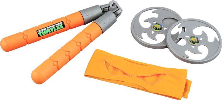 TEENAGE MUTANT NINJA TURTLES ninjautrustning Michelangelo Teenage Mutant Ninja Turtles-utrustning till barn.Besegra Shredder och hans anhängare med denna häftiga ninjautrustning! Med vapen och ögonmask.